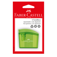 Apontador com Dep�sito Faber-Castell Clickbox Ctl c/ 1 Unid (12 Ctl/cada) - SM/CLICKBOX