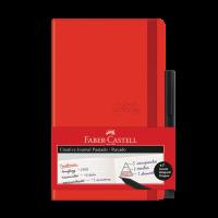 Caderneta Faber-Castell Creative Journal Pautado Vermelho 84 fls (3 Unid/cada) - CDNETA/VM