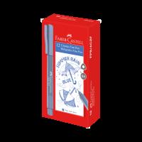 Caneta Ponta Porosa Faber-Castell Fine Pen 0.4mm Azul Chuva (12 Unid/cada) - FPB/ACZF