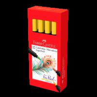 Canetinha Hidrogr�fica Faber-Castell Supersoft BrushPen Amarelo (12 Unid/cada) - HSOFT/AM