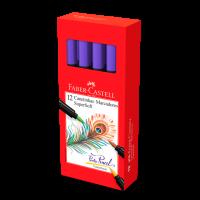 Canetinha Hidrogr�fica Faber-Castell Supersoft BrushPen Roxo (12 Unid/cada) - HSOFT/RX