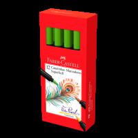 Canetinha Hidrogr�fica Faber-Castell Supersoft BrushPen Verde (12 Unid/cada) - HSOFT/VD