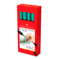 Canetinha Hidrogr�fica Faber-Castell Supersoft BrushPen Verde-�gua (12 Unid/cada) - HSOFT/VA