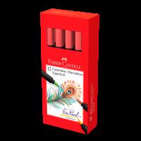 Canetinha Hidrogr�fica Faber-Castell Supersoft BrushPen Vermelho (12 Unid/cada) - HSOFT/VM