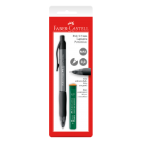 Lapiseira Faber-Castell Poly 0.9mm Preto Ctl c/ 1 Unid (24 Ctl/cada) - SM/09POLY