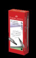 Lapiseira Faber-Castell Tri Shape Colors 2.0mm Preto (12 Unid/cada) - LP20TSCP