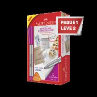 Leve 2 e Pague 1 Marcador Multiuso Faber-Castell Permanente Ponta M�dia Rosa (12 Unid/cada) - MULTI/RSZF