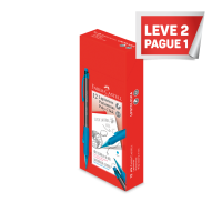 Leve 2 Pague 1 LAPISEIRA POLY CLICK 0.7MM AZUL (12 Unid/cada) - LP07CLICKA