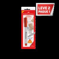 Leve 2 Pague 1 Marcador Multiuso Faber-Castell Permanente Ponta Média Vermelho Ctl c/ 1 Unid (24 Ctl/cada) - SM/MULTIVMZF