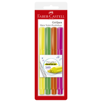 Marca Texto Faber-Castell Grifpen Mix Ctl c/ 4 Unid (12 Ctl/cada) - MT/ESZF