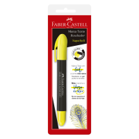 Marca Texto Faber-Castell SuperSoft Gel Amarelo Ctl c/ 1 Unid (24 Ctl/cada) - SM/1557