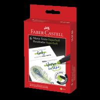 Marca Texto Faber-Castell SuperSoft Gel Verde (6 Unid/cada) - 155763